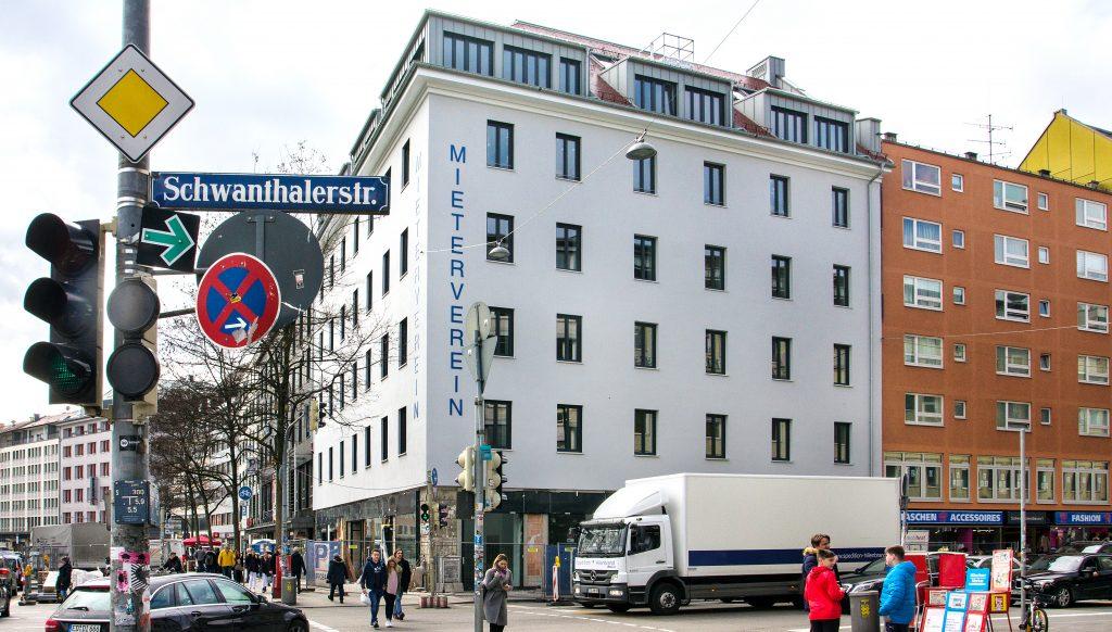 Unsere renovierte Hauptgeschäftsstelle an der Sonnenstraße Ecke Schwanthalerstraße.