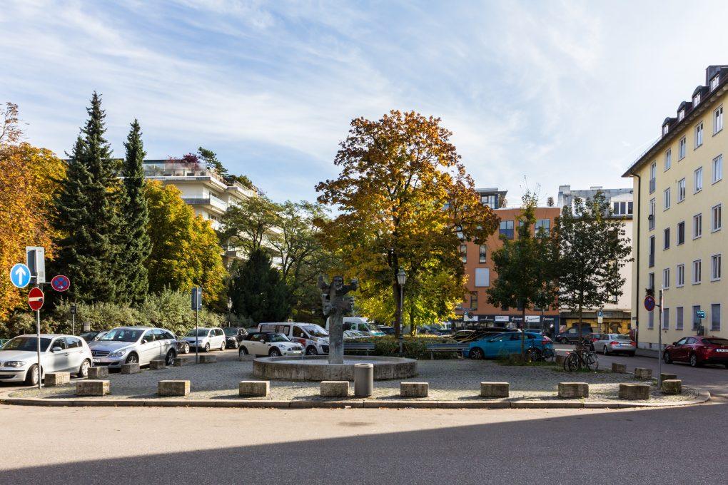 Am Artur-Kutscher-Platz in Schwabing liegt Kehrs ehemalige Wohnung.