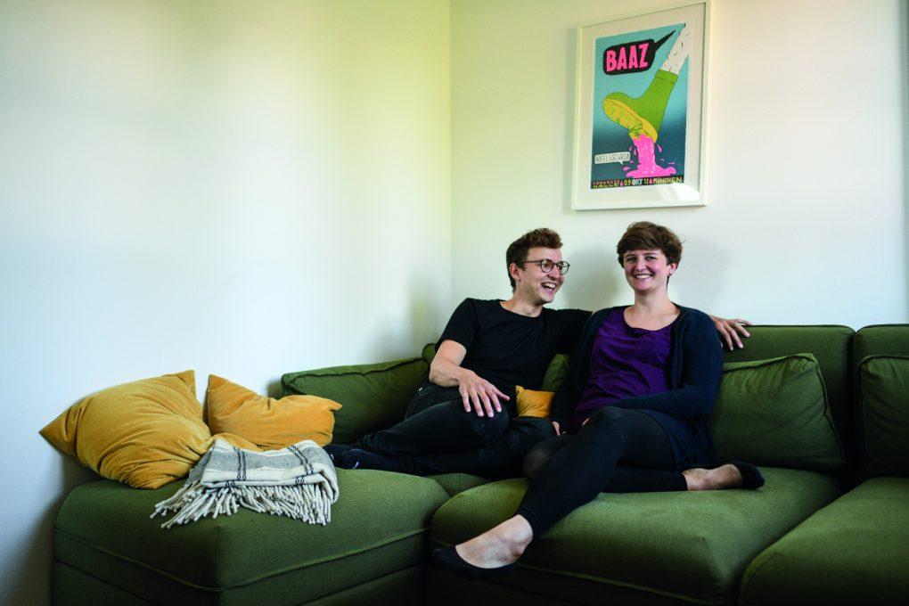 Fabian und Christina Urner fühlen sich wohl in ihrer Wohnung